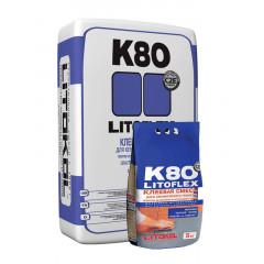 Litokol Litoflex K80, эластичная клеевая смесь, 25кг